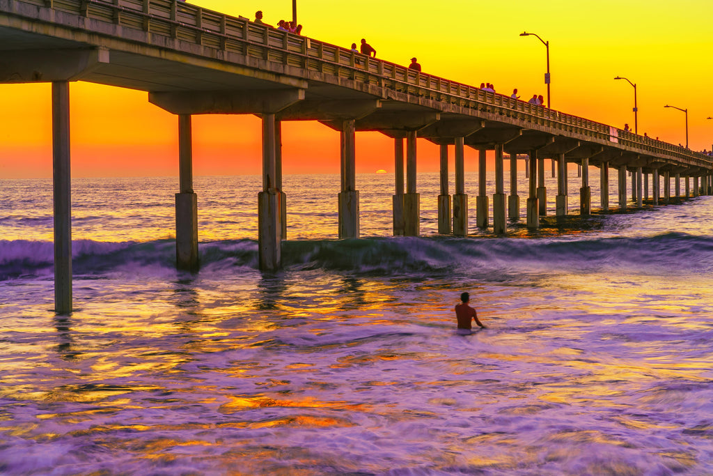 Ocean Beach Pier 2 Sunset Digital Download by McClean Photography