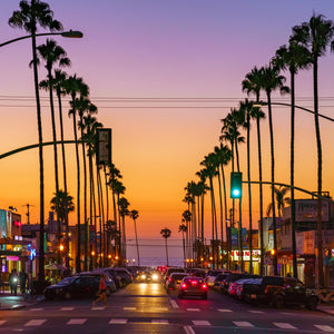 Newport Avenue in Ocean Beach, San Diego Sunset Digital Download