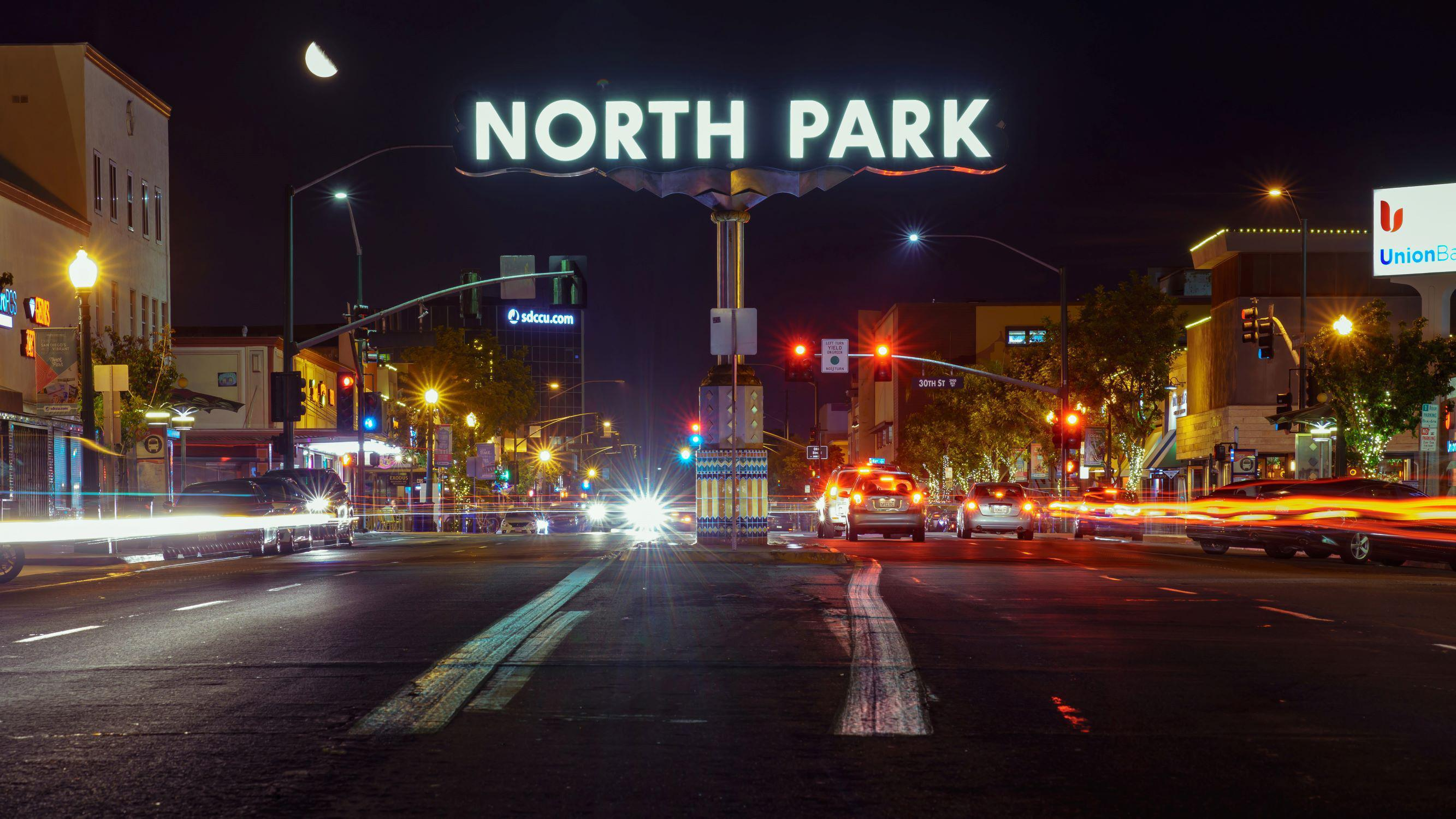 North Park San Diego at Night Digital Download by McClean Photography