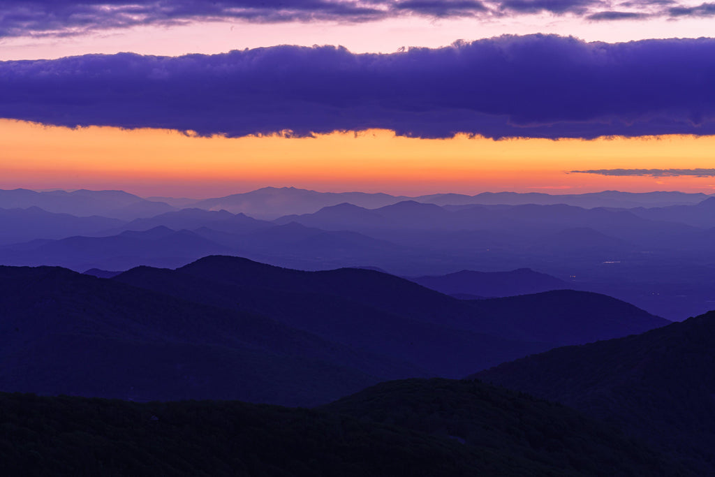 Craggy Mountain, North Carolina Sunset Digital Download by McClean Photography