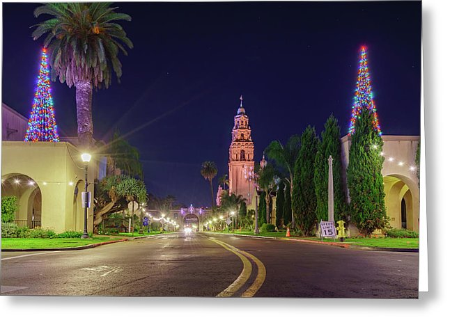 Balboa Park, San Diego During Christmas - Greeting Card
