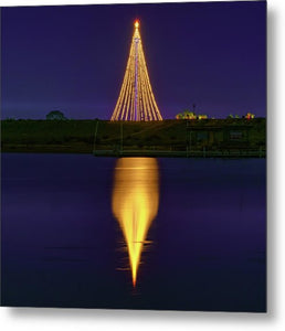 SeaWorld Sky Tower Night Reflection Canvas Print by McClean Photography