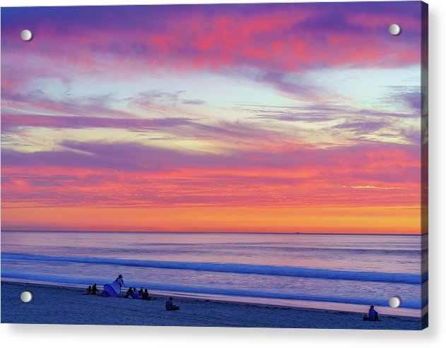 Cloudy Judgement In San Diego - Acrylic Print by McClean Photography