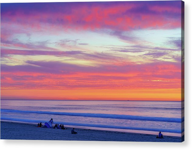 Cloudy Judgement In San Diego - Acrylic Print-Acrylic Print-McClean Photography