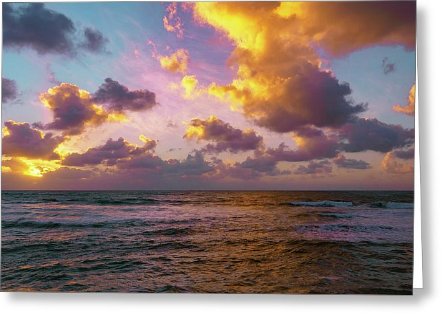 Cotton Candy Sunset At Sunset Cliffs, San Diego - Greeting Card