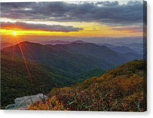 Craggy Mountain, North Carolina Sunset 2 - Canvas Print