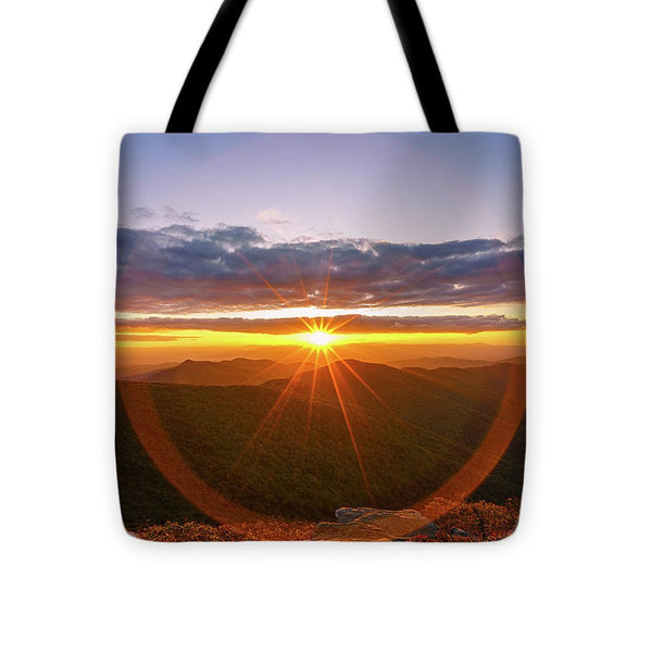 Craggy Mountain, North Carolina Sunset 3 - Tote Bag