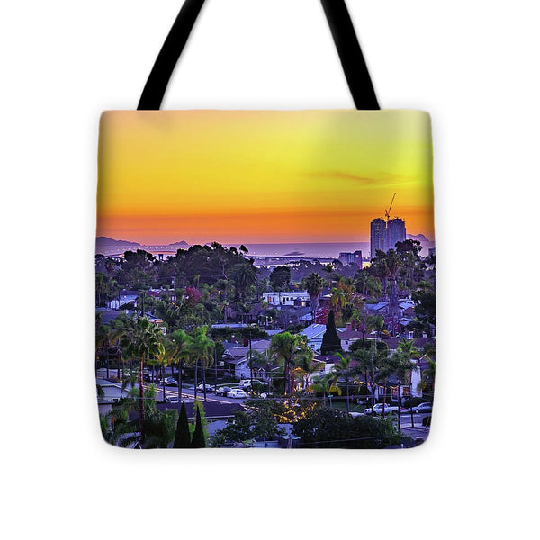 Elevated Sunset From North Park, San Diego - Tote Bag