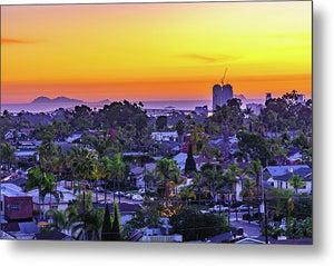 Elevated Sunset From North Park, San Diego - Metal Print-Metal Print-McClean Photography