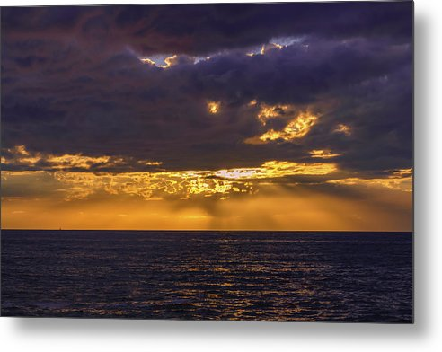 Golden Hour In San Diego - Metal Print