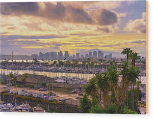 Gorgeous Sunrise From Point Loma, San Diego - Wood Print