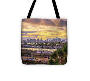 Gorgeous Sunrise From Point Loma, San Diego - Tote Bag