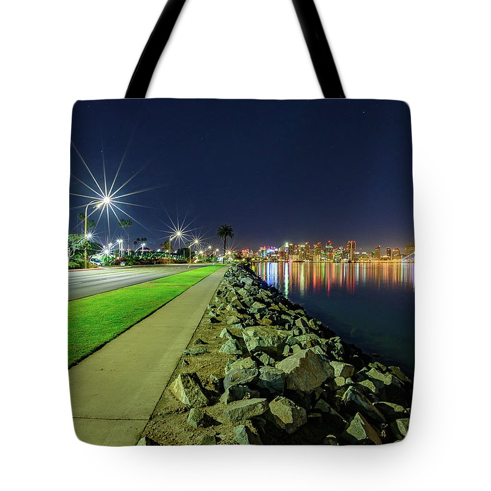 Harbor Island San Diego Light Stars - Tote Bag