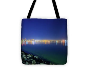 Harbor Island, San Diego Night Shot - Tote Bag