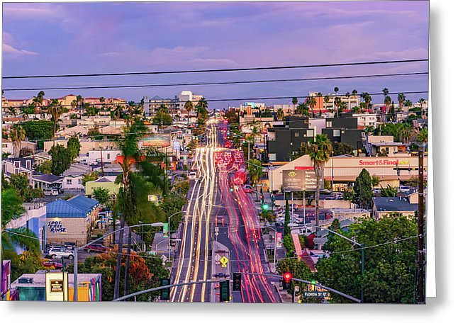 High View Of North Park, San Diego - Greeting Card