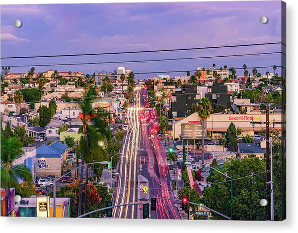 High View Of North Park, San Diego - Acrylic Print