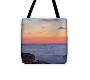 Moon Rise Among A Sunset In Ocean Beach, San Diego - Tote Bag