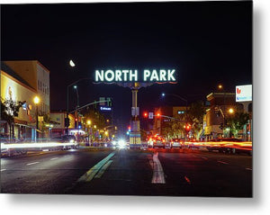 North Park Sign In San Diego, California - Metal Print