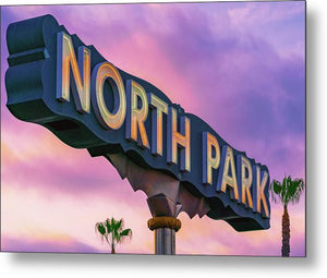 North Park Sign With Trees In San Diego, California - Metal Print
