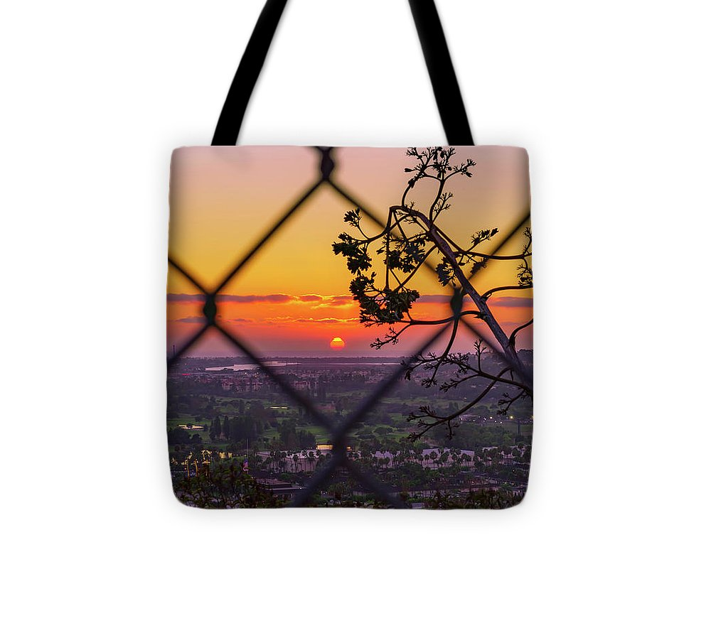 On The Fence In San Diego, California By Mcclean Photography - Tote Bag