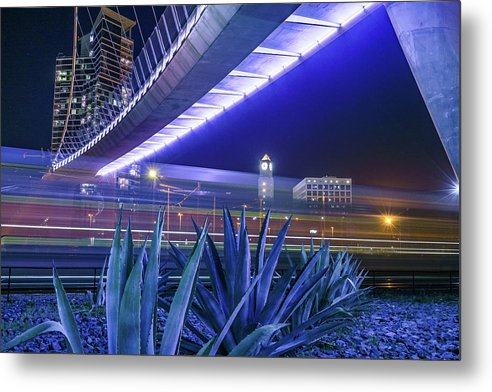 Passing Train Is On Time - Metal Print