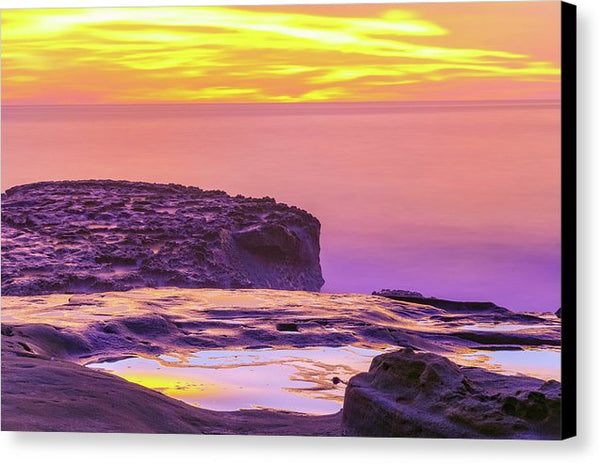 Planet Mars Or Ocean Beach, San Diego - Canvas Print