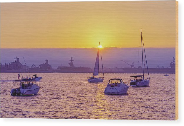Rock The Boats In San Diego, California - Wood Print