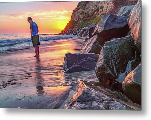 Solo In San Diego, California - Metal Print