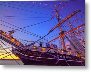 Star Of India In San Diego, California At Sunset - Metal Print