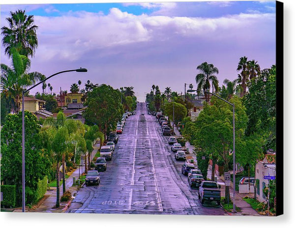Street View Of University Heights, San Diego - Canvas Print