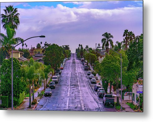 Street View Of University Heights, San Diego - Metal Print