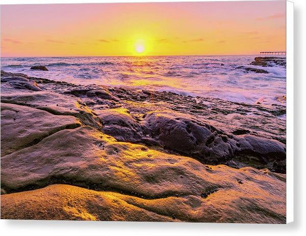Sun Kissed In San Diego, California - Canvas Print