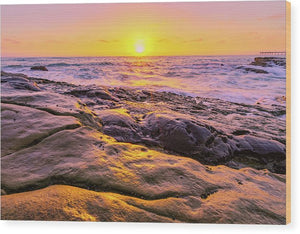 Sun Kissed In San Diego, California - Wood Print