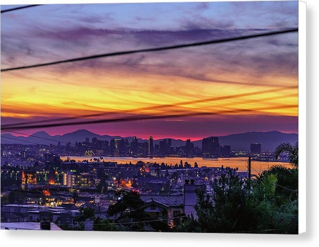 Sunrise In Point Loma Heights, San Diego By Mcclean Photography - Canvas Print