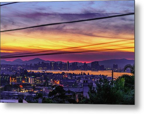 Sunrise In Point Loma Heights, San Diego - Metal Print-Metal Print-McClean Photography