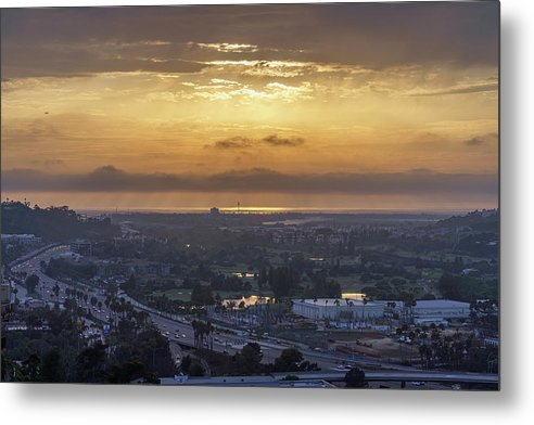 University Heights San Diego, California Sunset In September - Metal Print