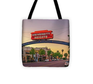 University Heights Sign In San Diego, California - Tote Bag