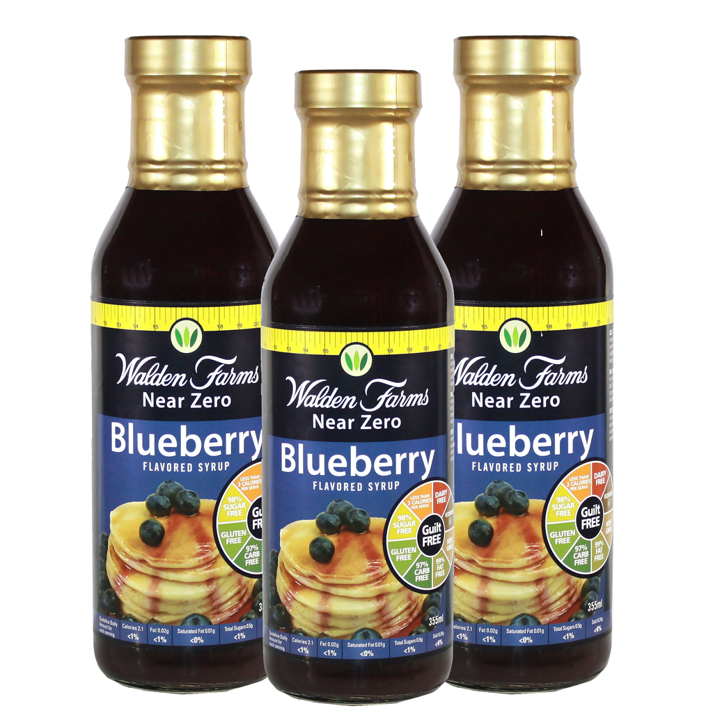 Near Zero sugar blueberry syrup