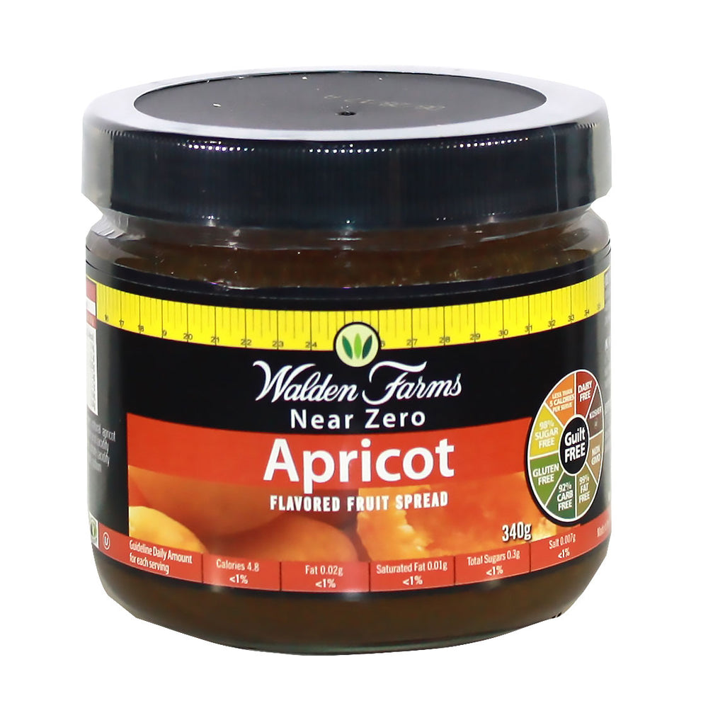 Gluten Free Apricot Fruit Spread with Near Zero Fat, Sugar, and Carb