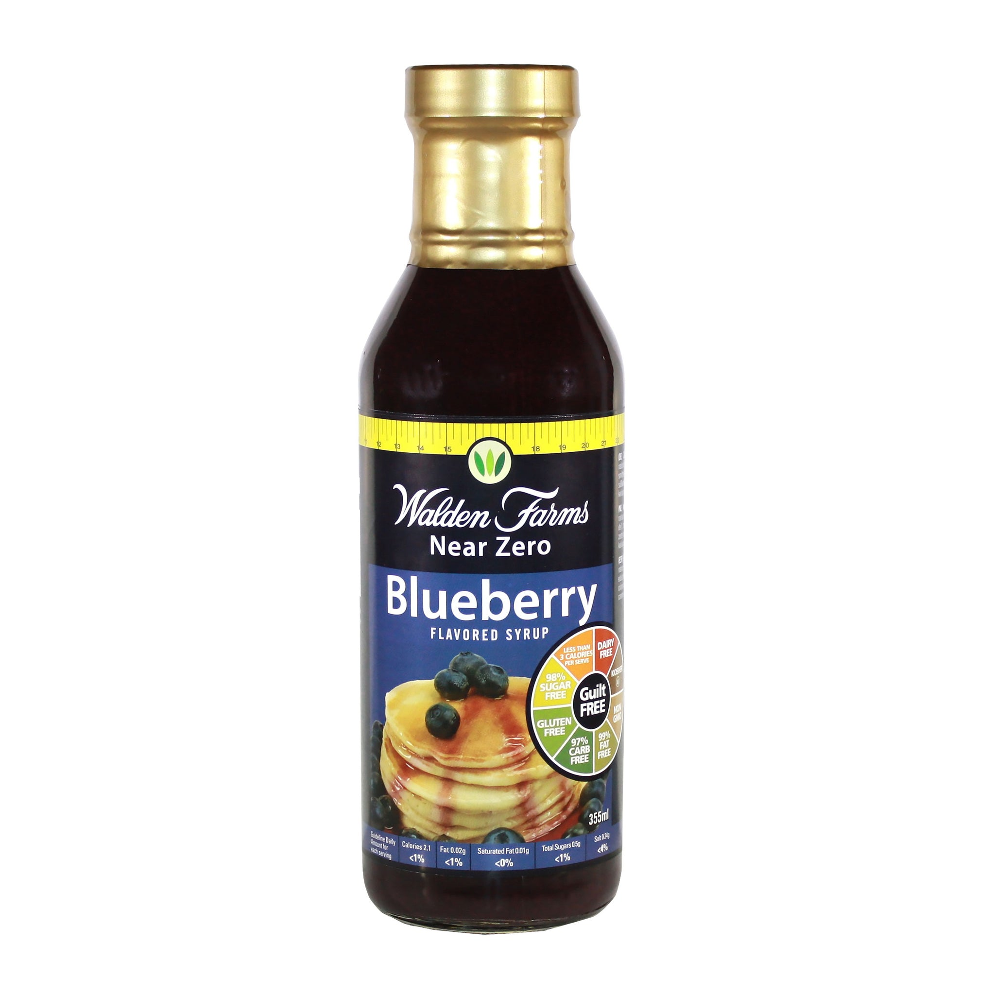 Dairy Free Blueberry Syrup with Low Calorie & Near Zero Fat and Sugar