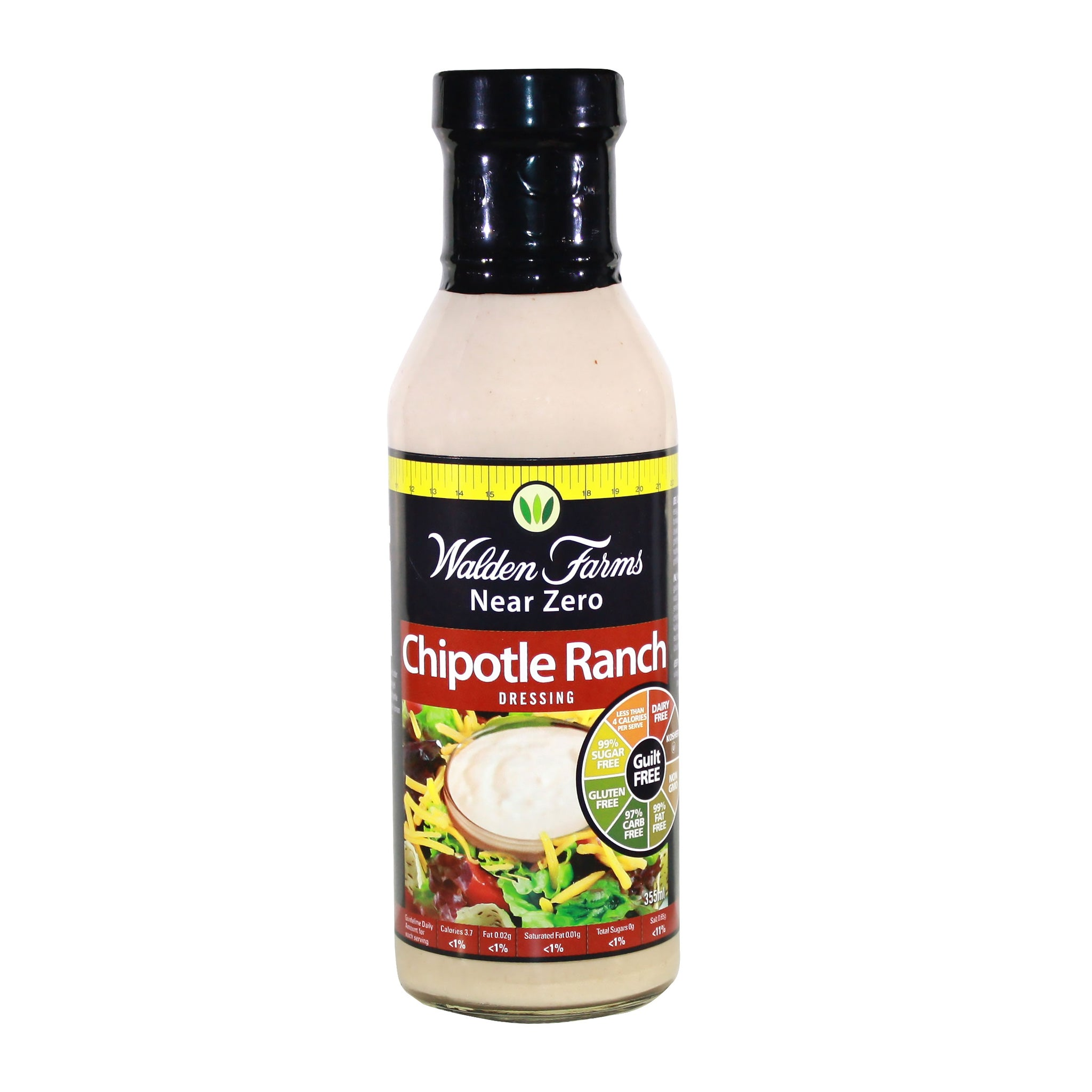 Gluten Free Chipotle Ranch Dressing with Near Zero Fats and Calories