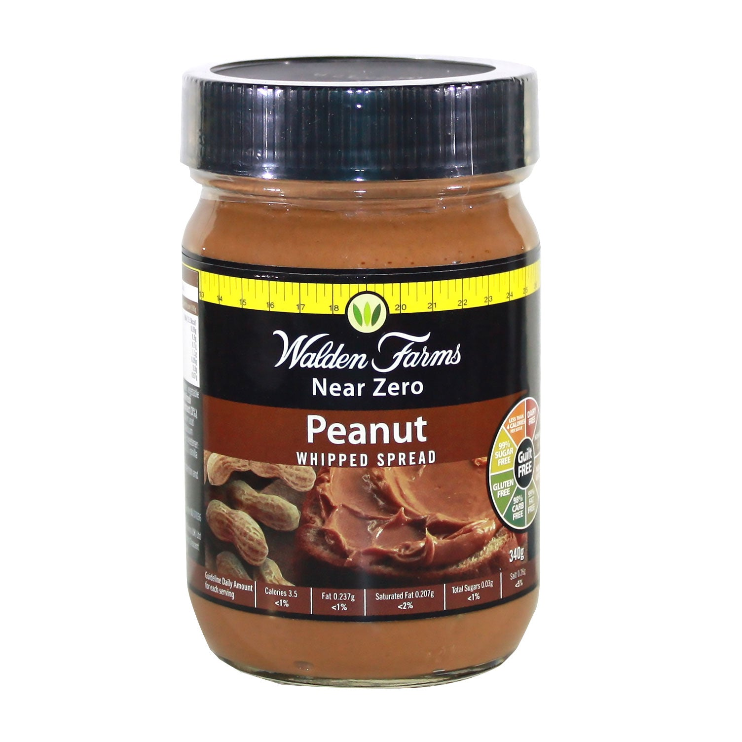 Gluten Free Whipped Peanut Spread with Near Zero Fat, Carb and Sugar