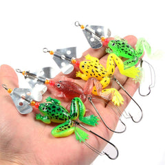 Rubber Frogs Fishing Lure