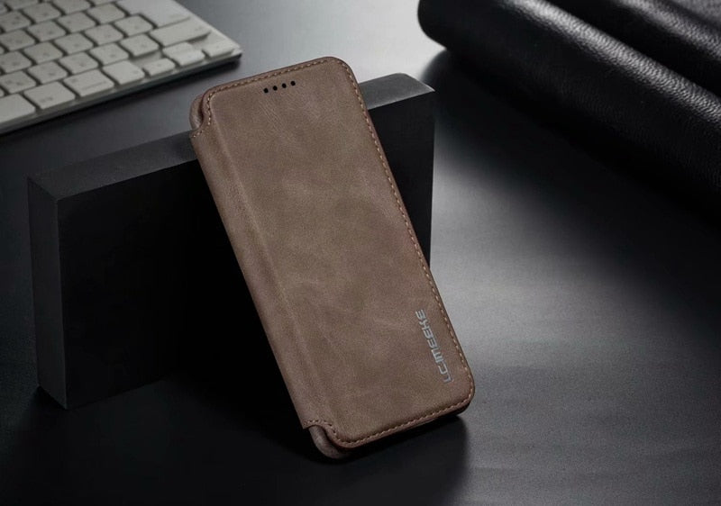 Luxury Leather Flip Phone Case For Hawei P20 P30 Pro Lite Nova 3e 4e