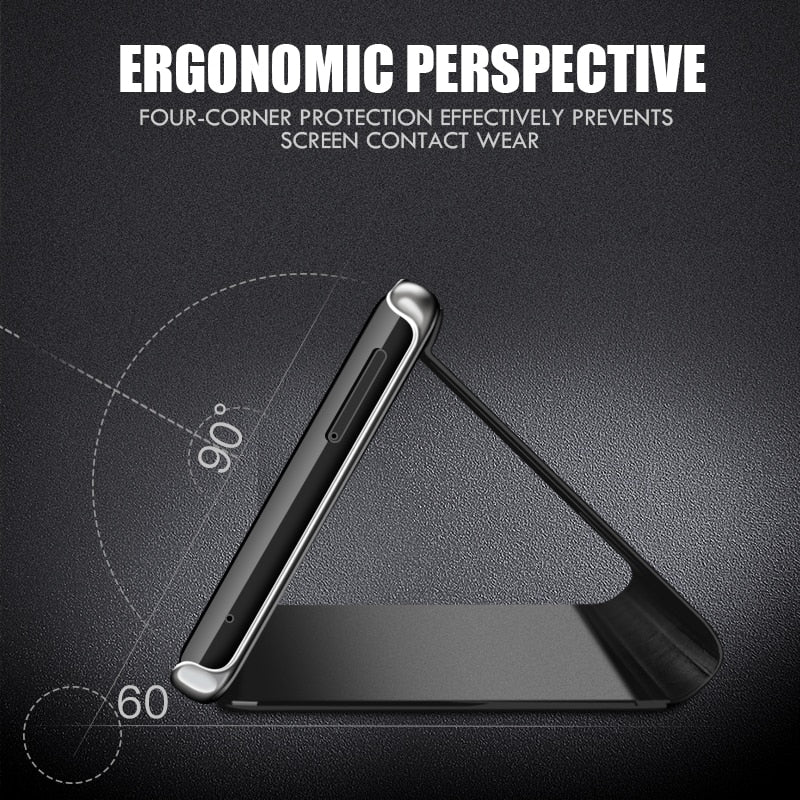 FASHIONABLE Smart Mirror Phone Case for Samsung Galaxy S10 S9 S8 Plus S10E A6 A8 A7 2018 Note 8 9 A10 A30 A40