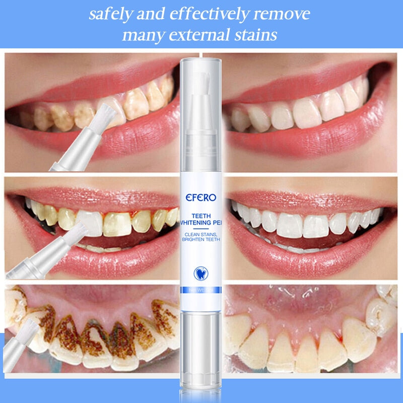 Oral Hygiene Teeth Whitening Pen for Plaque Stains Removal