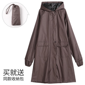 Waterproof Riding Cloth Fashionable Long Hooded Raincoat for Outdoor