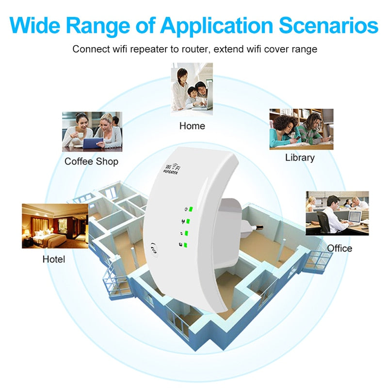 CUTTING EDGE Wireless 300Mbps WiFi Amplifier & WiFi Long Signal Range Extender 802.11N Access point