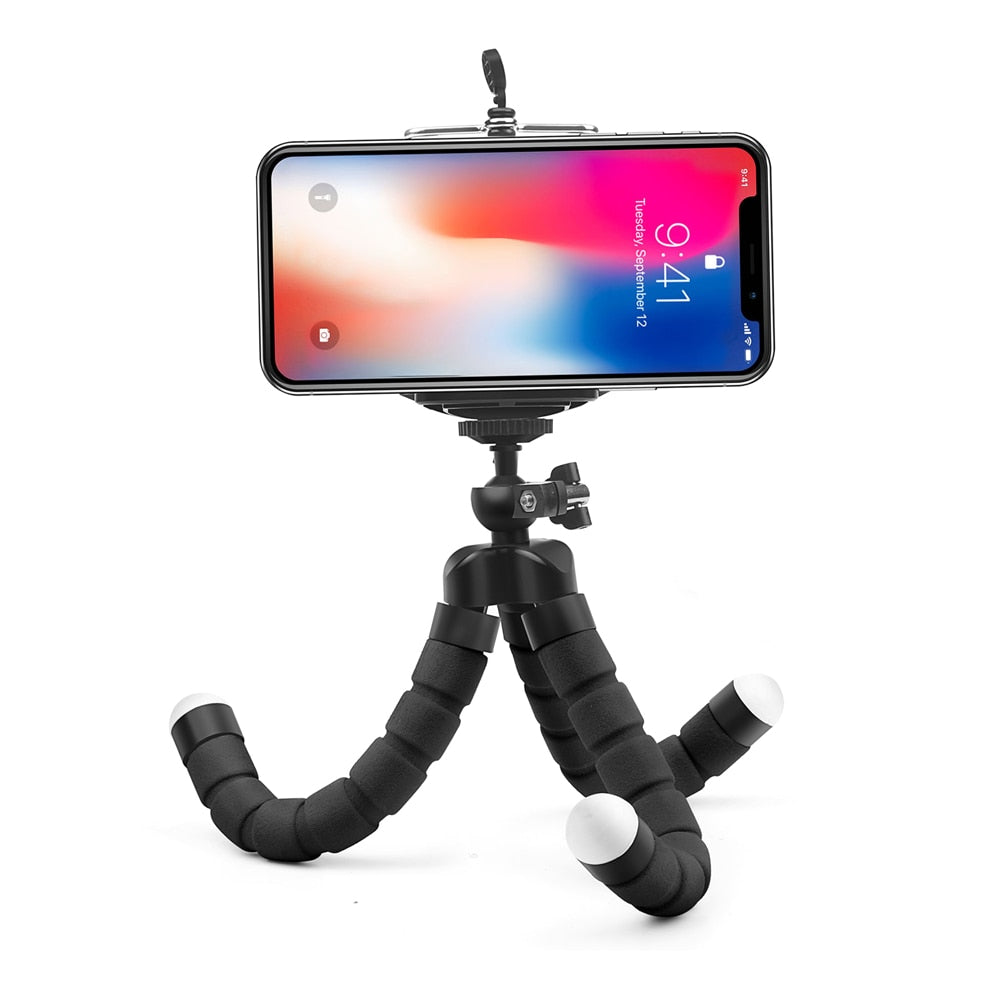 Mini Flexible Sponge Octopus Tripod for iPhone Samsung Xiaomi Huawei Smartphones