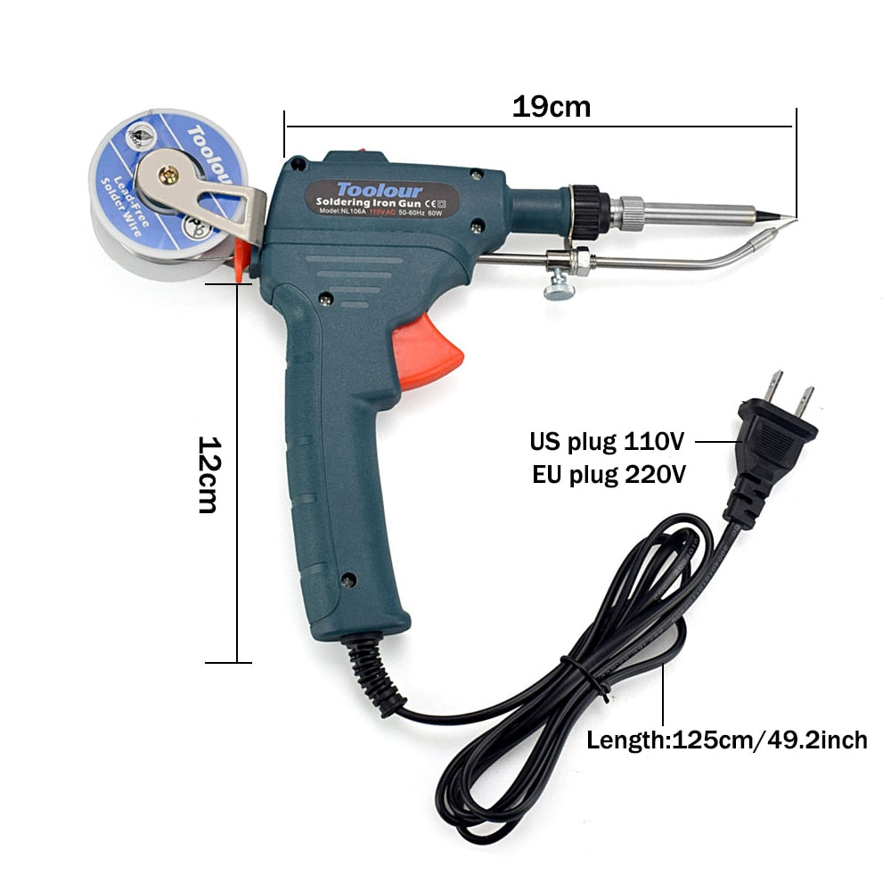 Fast Selling 60W Hand-held Internal Heating Soldering Iron Tools Kit